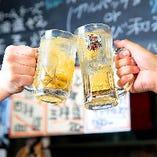 流行のレモンハイをはじめ鹿児島の地酒を多く取り揃えております