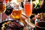 ◇休日は、お肉とお酒で!クラフトビールも◎