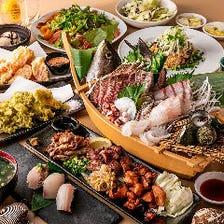 肉も魚も堪能!飲み放題付3,500円~