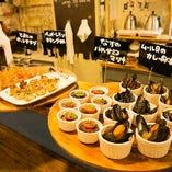 【タパス料理】 お酒に合う美味しい逸品料理を各種取り揃え