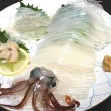 活イカや新鮮な魚介がイチオシ!