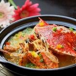 蟹を使用したお料理もご用意しております