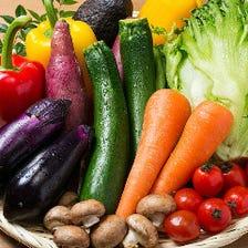 築地仕入れの有機・減農薬野菜の料理
