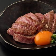 新鮮赤身肉の炙り焼き