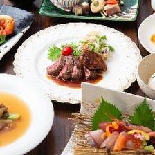 【キャンペーン】豪華食材がずらりと並ぶ「贅沢三昧コース」8,400円(要予約)