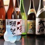獺祭をはじめとする日々変わる店主こだわり厳選日本酒