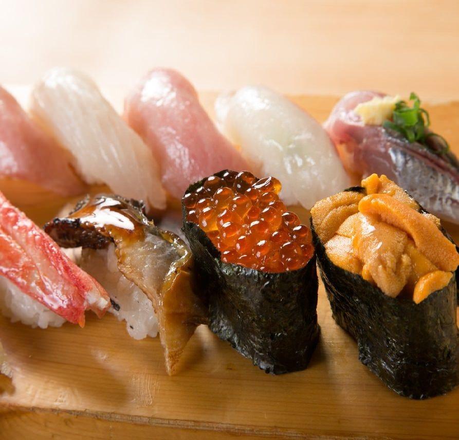 本格職人のにぎり寿司!