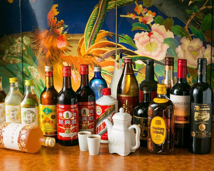 飲放は2時間1500円! ビールや甕出し紹興酒も楽しめます♪
