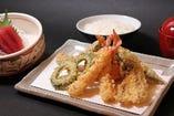 C(天ぷら、お刺身、ごはん、みそ汁、香物)