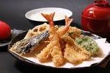 B(天ぷら、一品料理、ごはん、みそ汁、香物)