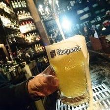 常時5種のドラフトビールをご用意!