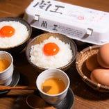 蘭王卵のTKG(卵かけごはん)
