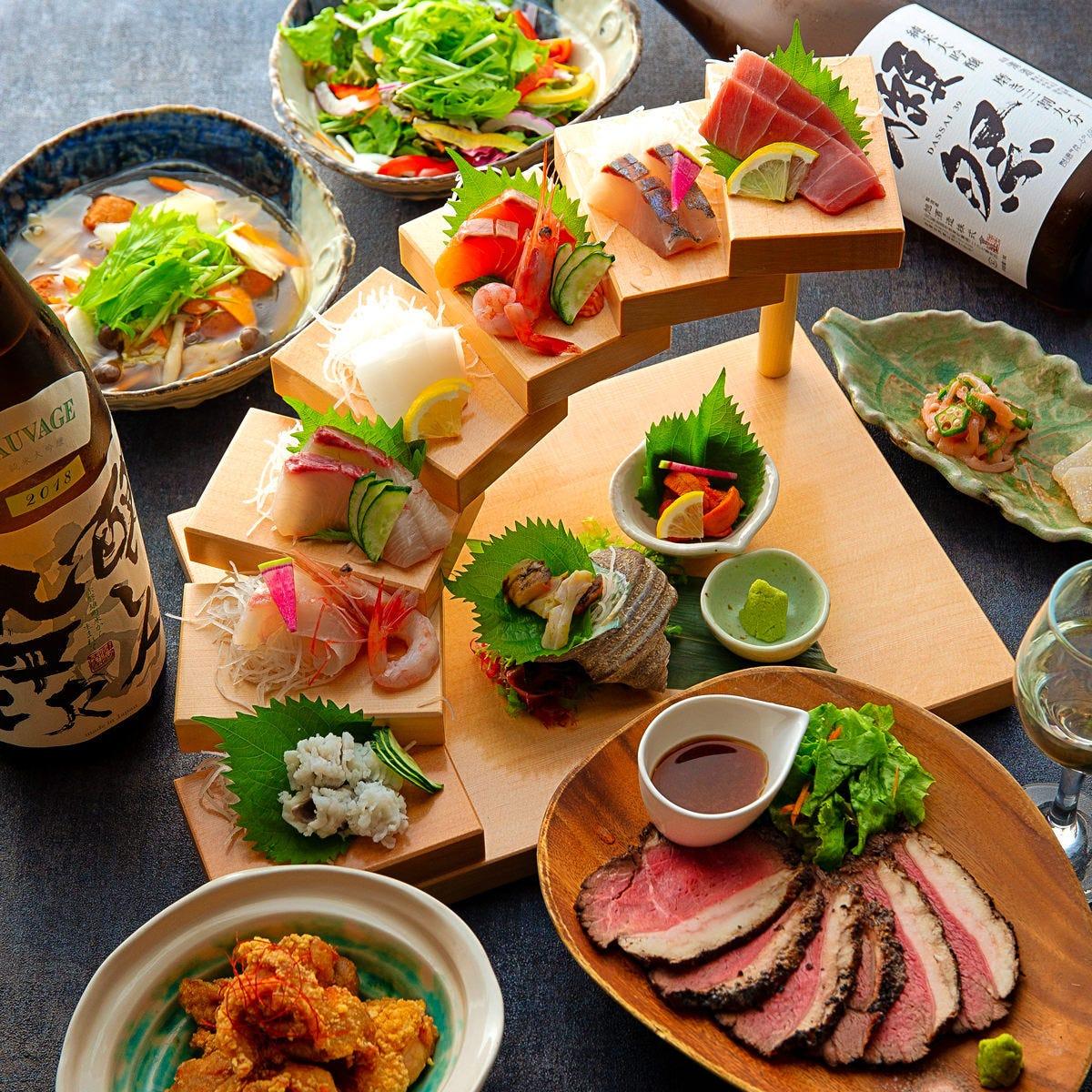 2名様OK♪肉魚の贅沢コース3200円~
