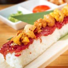 インパクト大!女性にも大人気◎韓国でも話題の『厳選牛のロングユッケ寿司』