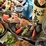 最もお手頃なコースでも料理は8品以上!料理のみコースを頼んで店主厳選の日本酒を心ゆくまで愉しむのもおすすめです。