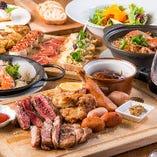 熟成肉&スペイン料理のパーティーコースが飲み放題付4,000円~