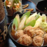 鶏だんご鍋(味噌醤油味)