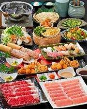 しゃぶしゃぶ、寿司が食べ放題