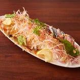 その日、朝獲れの鮮魚を魂を込めてイチオシのカルパッチョに!