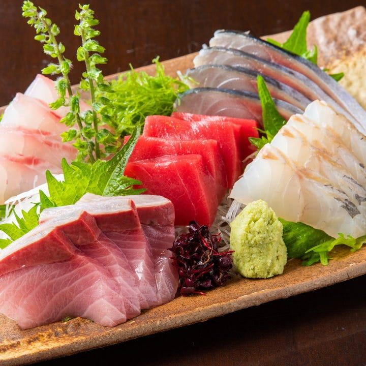 新鮮な魚介類を和食で楽しむ