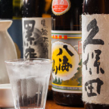 焼酎は芋/麦/甲類/黒糖の全11種、日本酒は全4種をラインナップ。