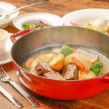 ストーブ鍋の本日の煮込みセット
