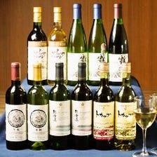 北海道の日本酒やワイン、焼酎