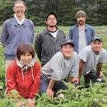 宮城県産の地物有機野菜など拘りの野菜もございます。【秋保の大滝農園や旬の地物野菜】