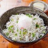 和田島しらす丼はコースの〆で人気