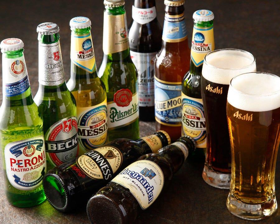 イタリア製の輸入ビールをはじめ 世界のビールが楽しめます!