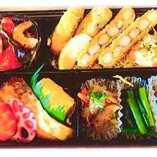海老カツと広島産カキフライ弁当