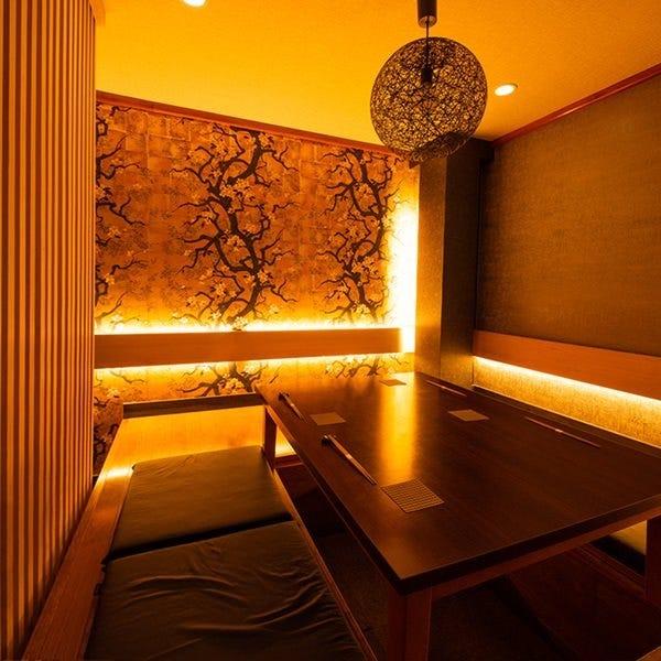センスある上質な個室で鉄板焼き