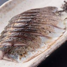 塩昆布で食べる炙り〆鯖