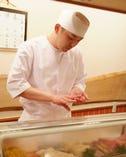 寿司職人による握り寿司