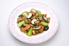 揚げ豆腐と野菜の醤油煮込み