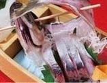 活魚を使った新鮮なお造り