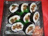 近江牛と針生姜の巻寿司