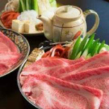 近江野菜と近江牛すき焼き