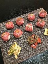 中川牛手鞠炙り寿司