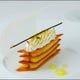 レモンのミルフィーユ 柑橘のアイスクリーム添え