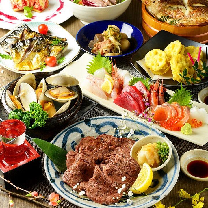 東北名物と季節の食材をコースメニューにアレンジ致しました。