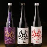 歌舞伎役者の顔をモチーフにした百十朗は岐阜県が誇る人気の地酒