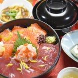 【10月限定!平日20食限定ランチ】キングサーモンとマグロの海鮮2色丼