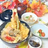 【11月限定!平日20食限定ランチ】海鮮と彩り秋野菜天丼