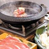 松茸と峠下牛すき焼きコース