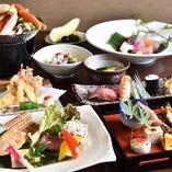 【コース】 旬の食材を贅沢に使った会席コースは接待にお勧め