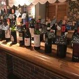 60種類のワインブィッフェを楽しもう!