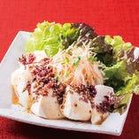 豆腐と香味野菜の和風梅しらすサラダ