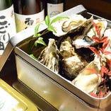 殻付き牡蠣のカンカン焼き