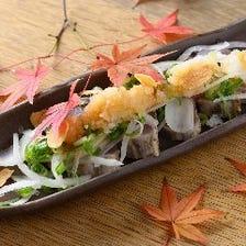 かつおのタタキ(おろしポン酢/塩レモン)